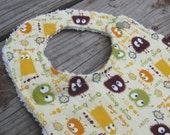 Ooga Booga Monster Designer Bib with Chenille - For Baby to Toddlers