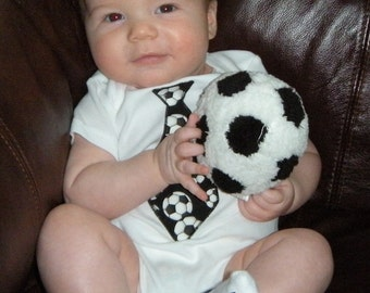 Little Man Soccer Tie Onesie