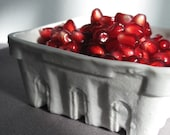 Porcelain Berry Basket with Clear / Ice Blue Glaze