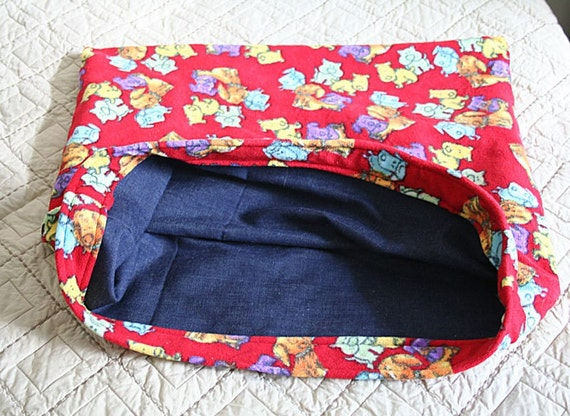 Snuggle bag doxie dachshund fleece and denim