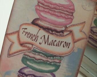 Parisian Macaron Gift Tags ... Macarons ....Set of 6 Hang Tags.... ECS