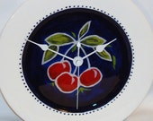 ON SALE - Cherry Plate Clock (8 inches) No. 351