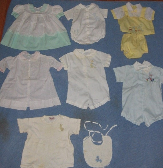 Collection of Vintage Baby Clothes