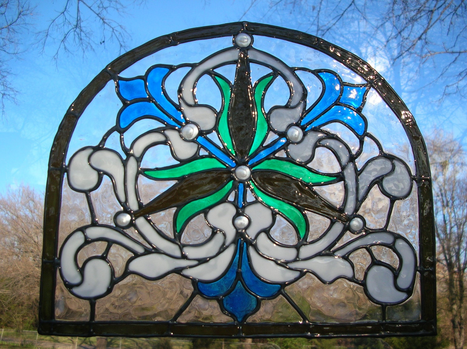 victorian style stained glass window cling. Black Bedroom Furniture Sets. Home Design Ideas