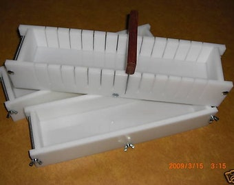 4/5 HDPE No Liner Soap Molds Bar Slicer Wooden Lids Avail. E