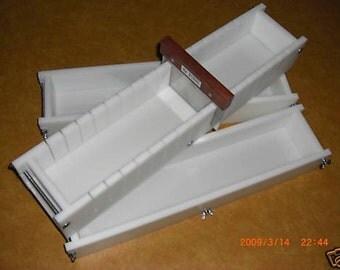 Soap Mold 5 to 6 Lb No Liner Soap Molds & Soap Tray Bar Loaf Slicer Set E