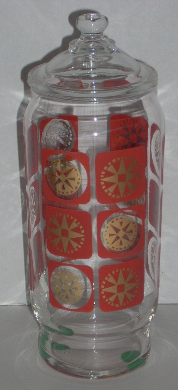 Mid century modern glass sunburst starburst apothecary jar for Modern apothecary jars