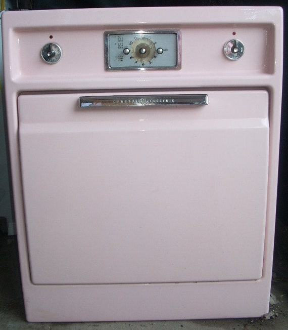 Antique General Electric Range Stoves ~ Vintage pink general electric built in wall stove oven local