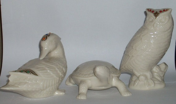 Lenox USA Jewels Animals USA Duck Owl Turtle