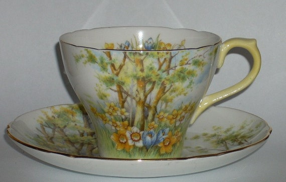 Shelley England Daffodil Time Cup and Saucer