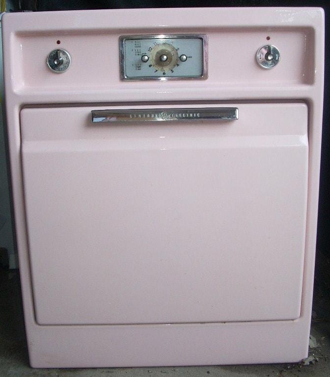 Vintage General Electric Wall Ovens ~ Vintage pink general electric built in wall stove oven local