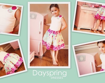 ON SALE! Delicate Flower,  twirl skirt, size newborn-12 girls