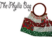 Christmas Quilted Snowman Poinsettia Tree Hoop Phyllis Bag
