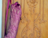 Yoga Mat Bag or Gym Bag - made from vintage silk