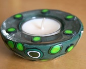 Green baubles candle holder