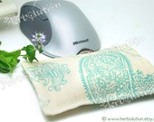 Organic Wrist Rest Support ergonomic Pillow for mouse users with Peppermint or Lavender with removable cover