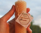 Pure natural Beeswax candle eco-friendly holiday gift air purifying taper