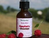 Raspberry Chocolate Body Spray Refreshener Natural Botanical Fragrance Vegan 2 or 4 oz