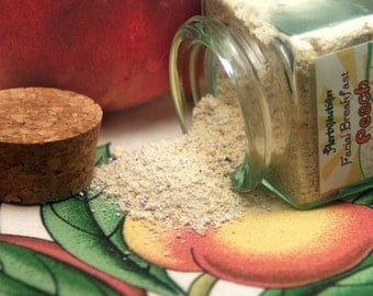 Organic Peach Face Scrub Natural and eco-friendly facial cleanser no soap vegan regimen SAMPLE