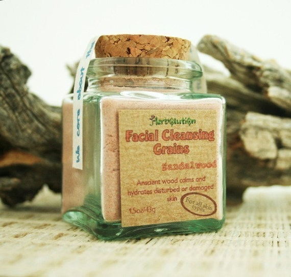 Sandalwood Facial Cleansing Grains gentle polish natural eco-friendly