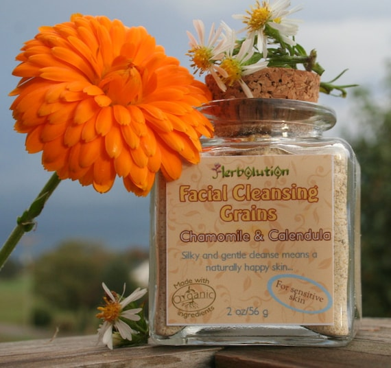 Organic Cleansing Grains gentle polish natural eco-friendly face scrub, bigger double size. Pick any from 21 types