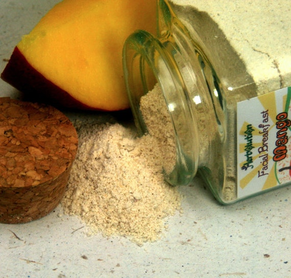 Organic Mango Facial Scrub Sample Size Natural and eco-friendly facial breakfast no soap vegan cleanser