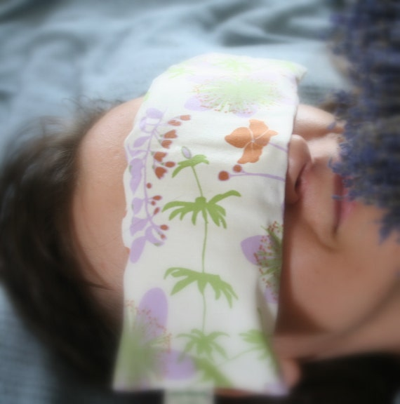 Organic Lavender Eye Pillow relaxing and soothing with soft organic cotton with removable washable covers