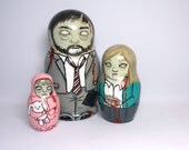 Zombie Nesting Dolls Family Set of 3