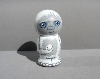 Yeti Abominable Snowman Kokeshi Doll