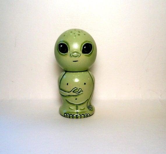 Alien Martian Kokeshi Doll