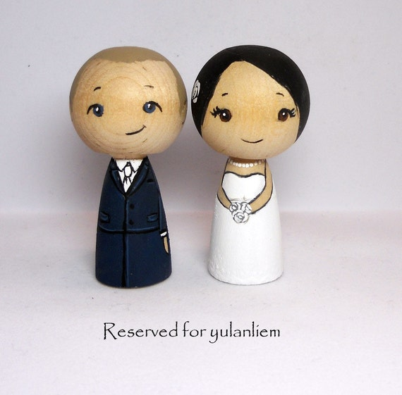 Reserved for yulanliem Wedding Cake Toppers