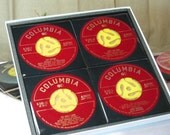 BENNY GOODMAN   4 pc.  45 RPM Record Drink Coaster  Set