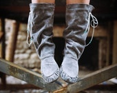 Soft Hand Made Leather Scrunch Boots Made to Order in 6 Different Color Choices