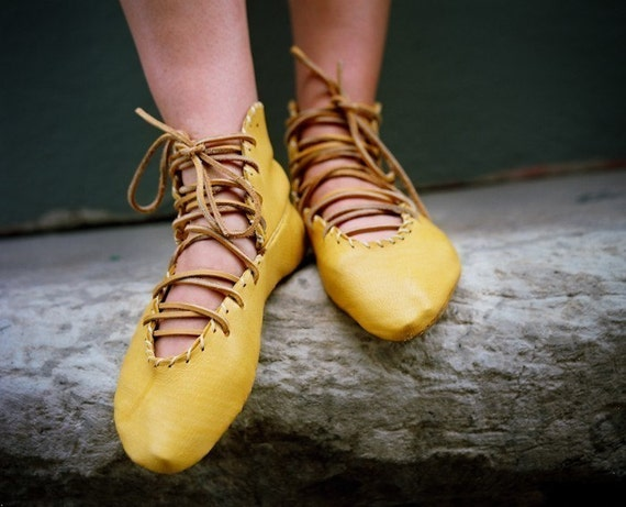 Soft Hand Made Leather Lace-up Ballet High Tops Made to Order in 6 Different Color Choices