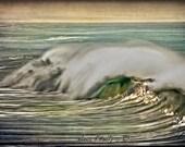 Vintage wave breaking in Oceanside. Fine Art Photography.