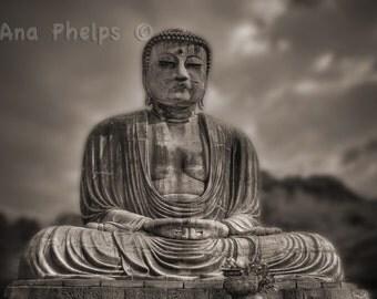 Big Buddha in Sepia Tone Fine Art Photography