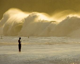 Watching Waves Crashing on the Shore. Fine Art Photography.