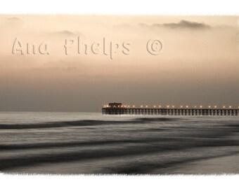 Pier at dusk. Oceanside, California. Fine Art Photography.