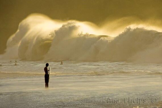 Watching Waves Crashing on the Shore. Fine Art Photography.
