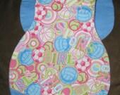 Sports Girl Flannel Burp Rag / Spit Cloth for Newborn Baby Girl
