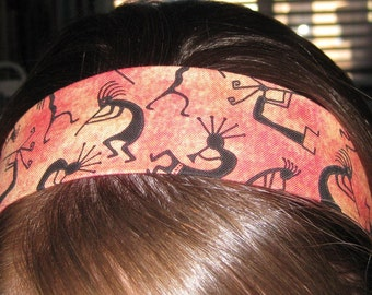 Orange and Red w/ Kokopelli on a Stay Put Headband