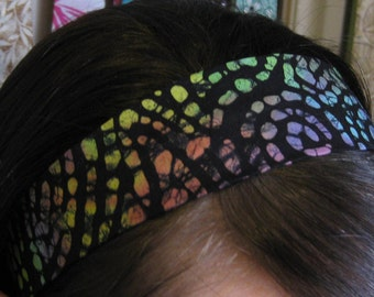 Multicolored and Black Stay Put Headband