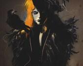 "Giclee Print of Illustration ""Crow"" by Deniz Erçelebi"