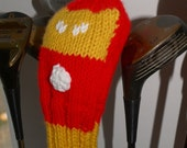 Iron Man, Avengers, Golf, Club Cover, Headcover, Head Cover, Knit, Crochet, Superhero, Gifts for Men, Golf Gift, Civil War