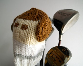 Knit PATTERN Princess Leia Star Wars Golf Club Cover PDF