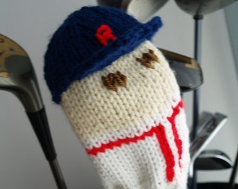 Boston, Red Sox, Golf Club Cover, Golf Headcover, Golf Head Cover, Knit, Baseball, Golf Gift, Gifts for Men, Custom