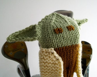 Knit PATTERN Yoda Golf Club Cover PDF
