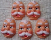 New Old Stock Doll Heads...Santa Claus Faces