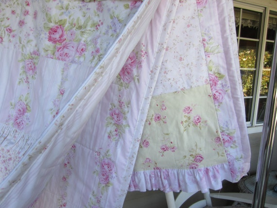 RESERVED FOR LAURA HANDMade Shabby Chic Quilt Featuring Treasures Fabric Line