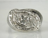 Showy Diamond VIntage Cocktail Ring - 0.41 Carat Total Weight